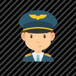 avatar, man, occupation, people, pilot, plane icon