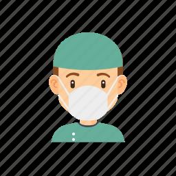 avatar, hospital, man, people, surgeon icon
