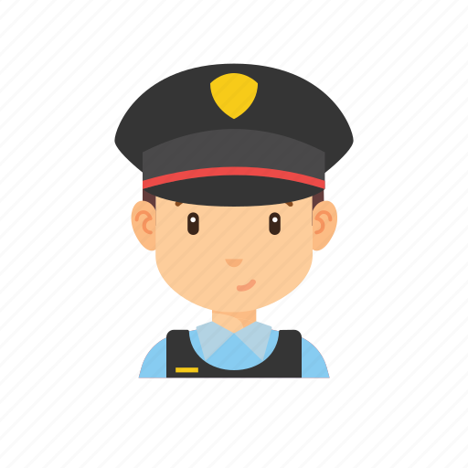 avatar, man, occupation, people, police icon