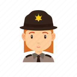 avatar, forest, occupation, people, police, sheriff icon