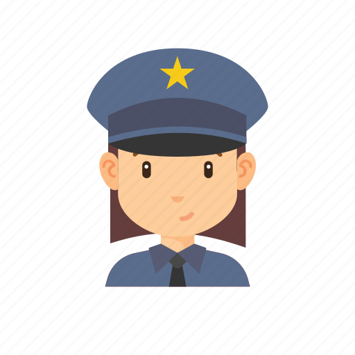 avatar, occupation, people, police, policewoman icon