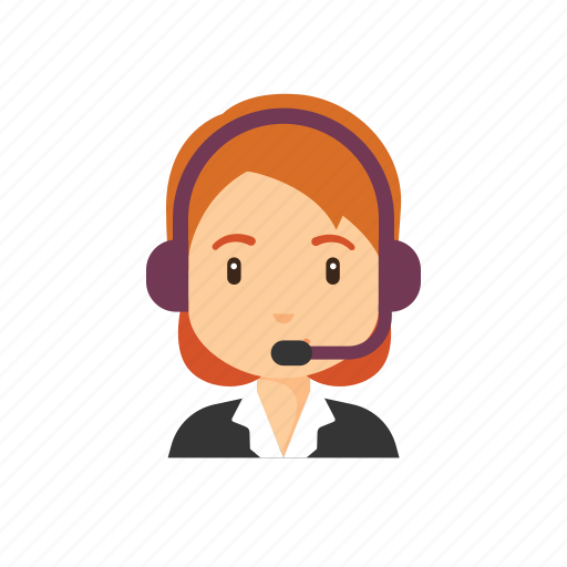 avatar, customer care, customer service, occupation, people, woman icon