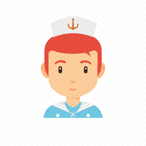 avatar, navy, occupation, people, sailor, sea, ship icon
