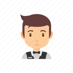 avatar, man, occupation, people, restaurant, waiter icon