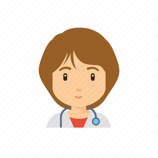 avatar, doctor, hospital, occupation, people, woman icon