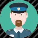 cap, enforcement, policeman, safety, security, service, uniform icon