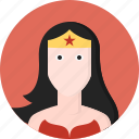 character, comic, crown, female, fictional, superhero, wonder woman icon