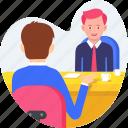 business, businessman, conversation, desk, meeting, talk, work