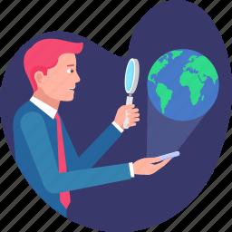 bsuiness, businessman, global, international, navigation, search, world