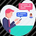 business, chat, comments, conversation, discussion, message icon