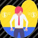 drop, empty pocket, investment, leak, losing, loss, money icon