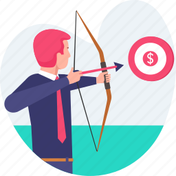 aim, archery, business, dartboard, goal, man, shooting, target