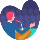 audience, business, businessman, conference, meeting, presentation, seminar icon