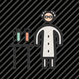 chemist, doctor, healthcare, lab, medicine, pharmacy, test icon