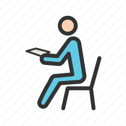 business, checking, data, message, mobile, people, smartphone icon