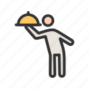 butler, catering, chef, cooking, food, restaurant, silver icon