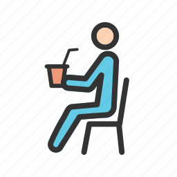 bottle, drink, drinking, people, sitting, soda, summer icon