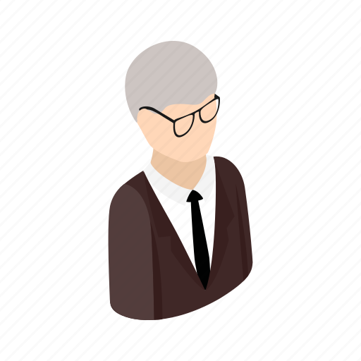 adult, isometric, male, man, men, office, suit icon