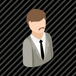adult, casual, isometric, male, man, men, portrait icon