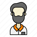 adult, avatar, beard, grandfather, man, old, user