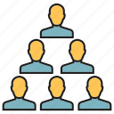 group, leader, organization, people, pyramid icon