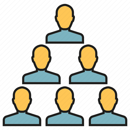 group, leader, organization, people, pyramid icon