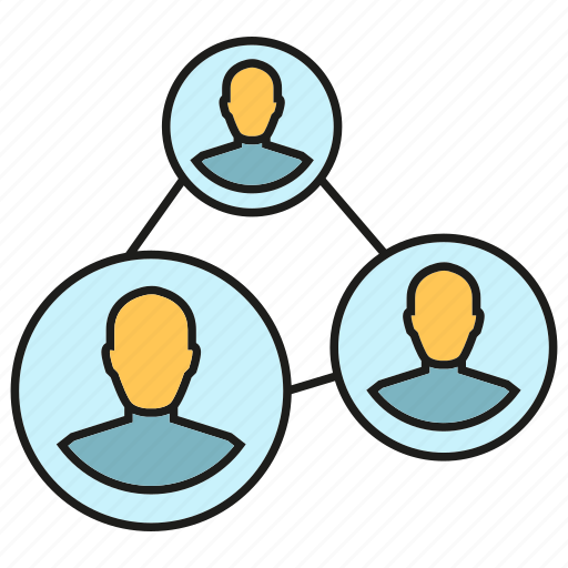 communication, community, connect, link, network, people, social media icon
