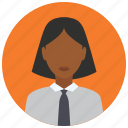 business, minority, people, shirt, tie, woman icon