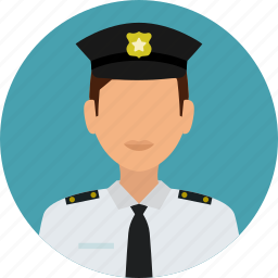avatar, badge, crime, man, officer, police man, protection icon