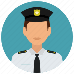 avatar, badge, police, police man, protection, shirt, tie icon