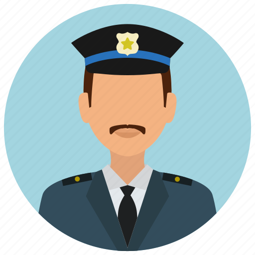 avatar, badge, crime, man, officer, police, protection icon