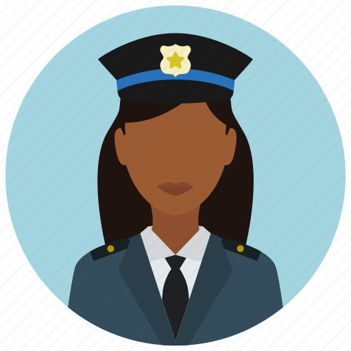 avatar, badge, crime, officer, police, protection, woman icon