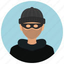 avatar, burglar, crime, criminal, man, protection, thief icon