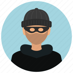 avatar, burglar, crime, criminal, man, protection, thief icon