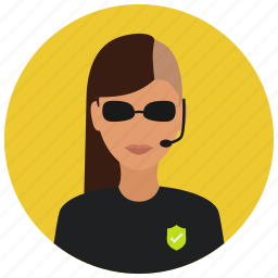 avatar, cool, crime, protection, sunglasses, woman icon