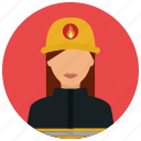 avatar, crime, fighter, fire, flame, protection, woman icon