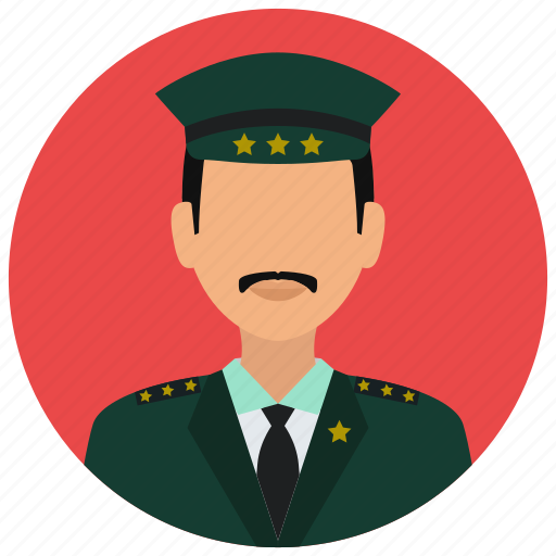 avatar, crime, man, military, officer, protection, stars icon
