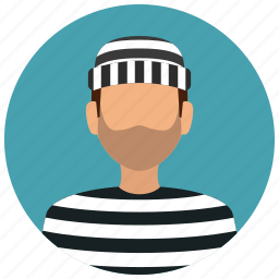 avatar, crime, criminal, killer, prisoner, protection, thief icon