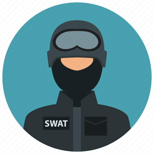 crime, man, people, protection, swat, team icon