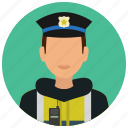 avatar, crime, man, officer, protection, safety, street icon