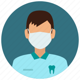 avatar, dentist, education, man, medical, medicine, science icon