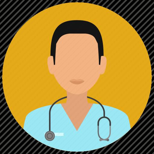 education, hospital, man, medical, medicine, nurse, science icon