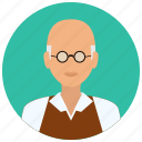 avatar, education, male, man, medical, old, science icon