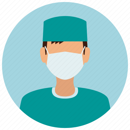 avatar, education, mask, medical, medicine, science, surgeon icon