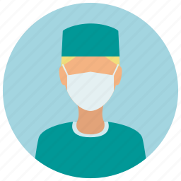 avatar, education, mask, medical, medicine, science, surgeon icon