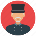 avatar, doorman, services, tophat, uniform icon