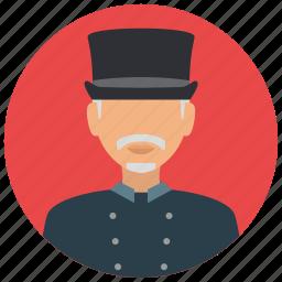avatar, doorman, services, tophat, uniform icon