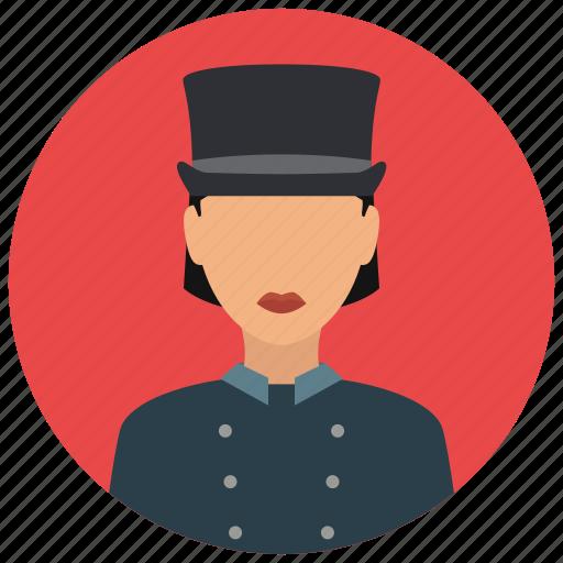 avatar, doorwoman, services, tophat, uniform icon