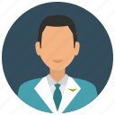attendant, avatar, flight, jacket, man, services, tie icon