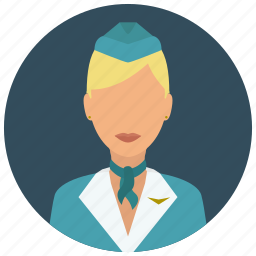 attendant, avatar, flight, hat, services, woman icon